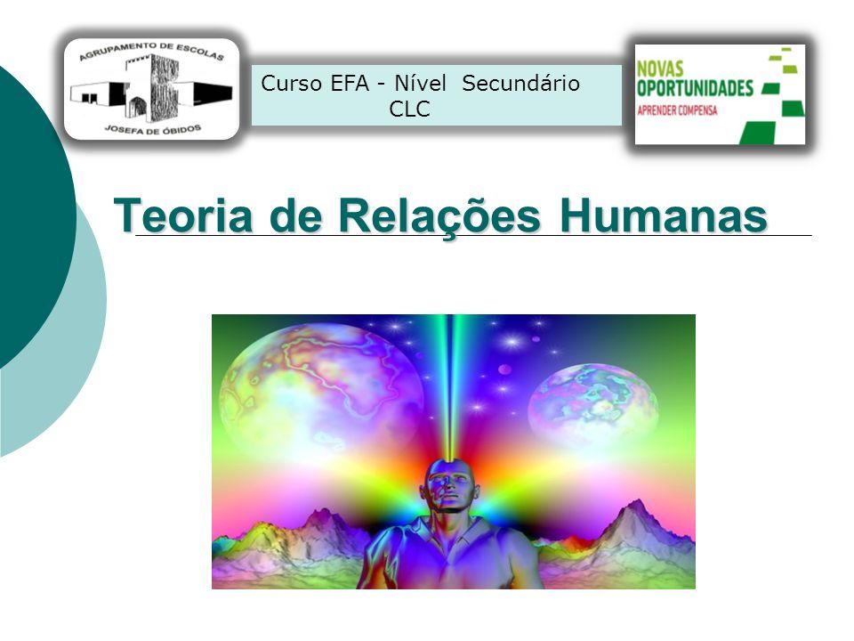 Teoria de Relações Humanas Curso EFA - Nível Secundário CLC