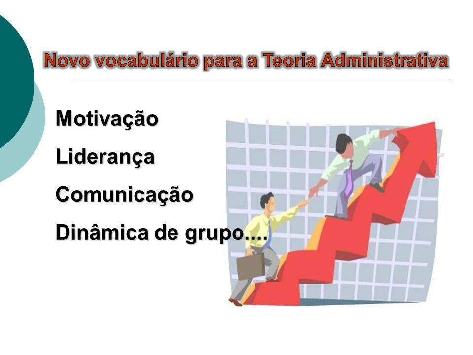 MotivaçãoLiderançaComunicação Dinâmica de grupo....