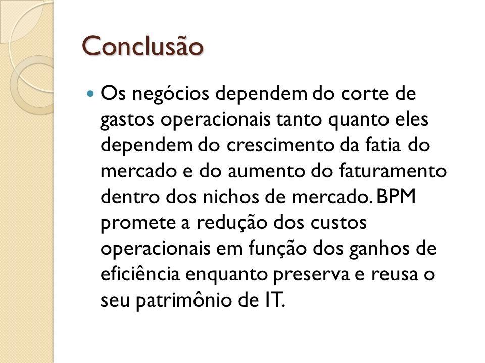 Conclusão Os negócios dependem do corte de gastos operacionais tanto quanto eles dependem do crescimento da fatia do mercado e do aumento do faturamen