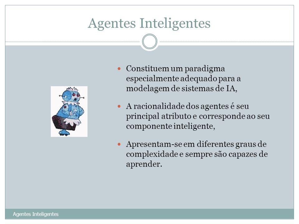 Agentes Inteligentes 27 Constituem um paradigma especialmente adequado para a modelagem de sistemas de IA, A racionalidade dos agentes é seu principal