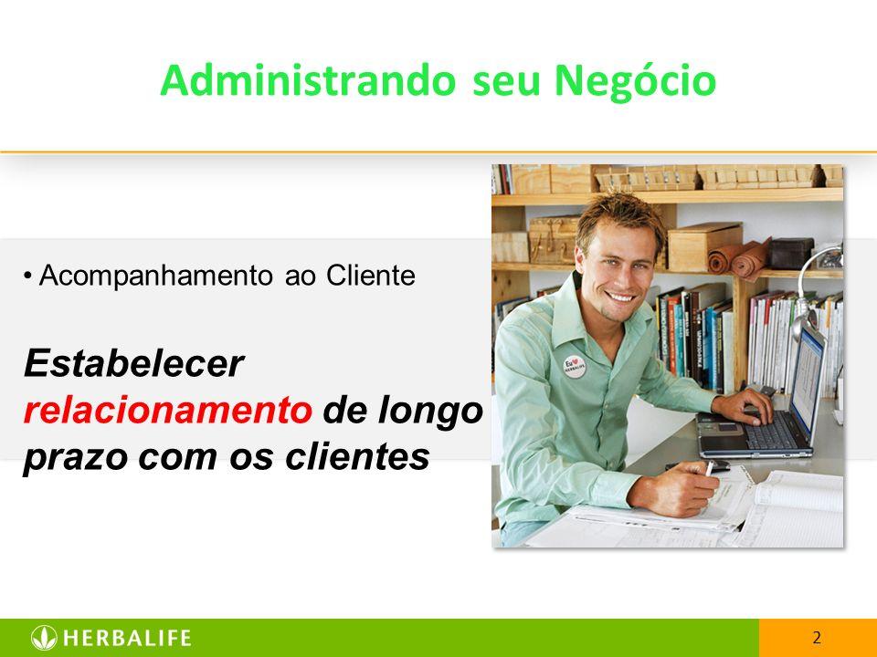 2 Administrando seu Negócio Acompanhamento ao Cliente Estabelecer relacionamento de longo prazo com os clientes
