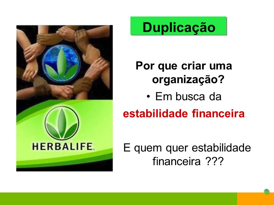 A duplicação é o segredo do sucesso Duplicação 155 25 125 5 Você 39 9 27 3