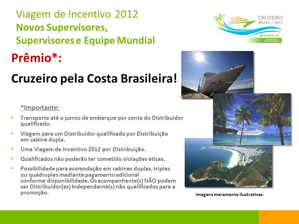 Viagem de Incentivo 2012 Novos Supervisores, Supervisores e Equipe Mundial Prêmio*: Cruzeiro pela Costa Brasileira! *Importante: Transporte até o pont