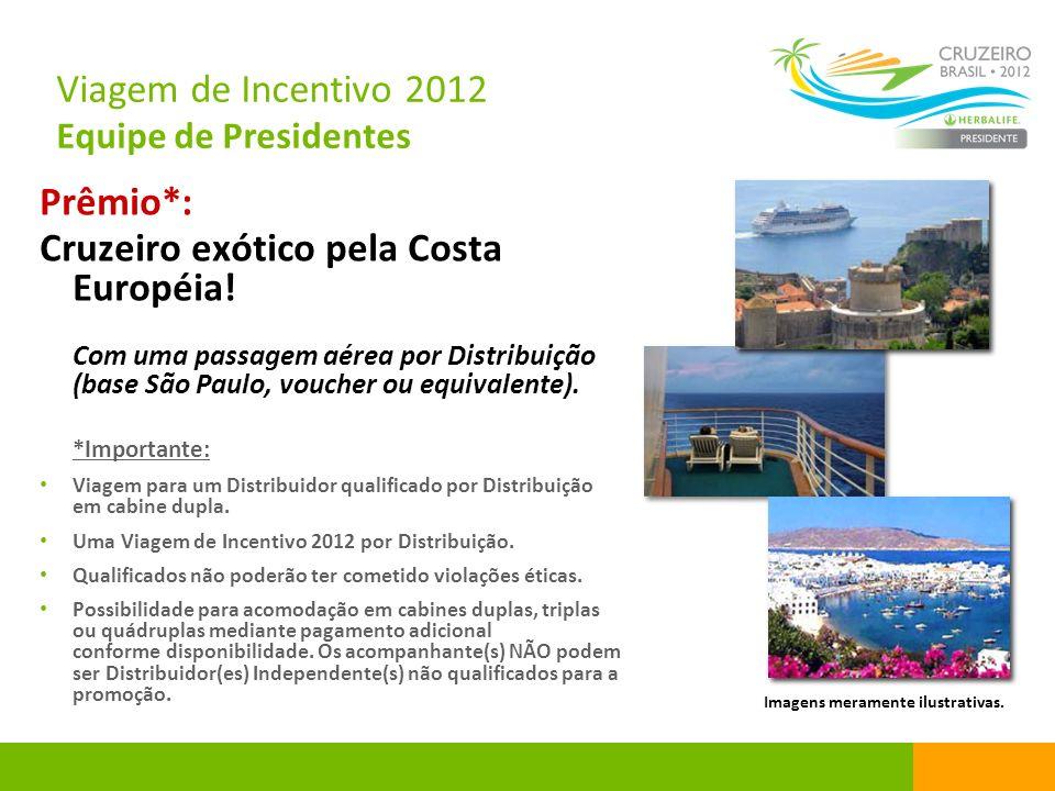 Prêmio*: Cruzeiro exótico pela Costa Européia! Com uma passagem aérea por Distribuição (base São Paulo, voucher ou equivalente). *Importante: Viagem p