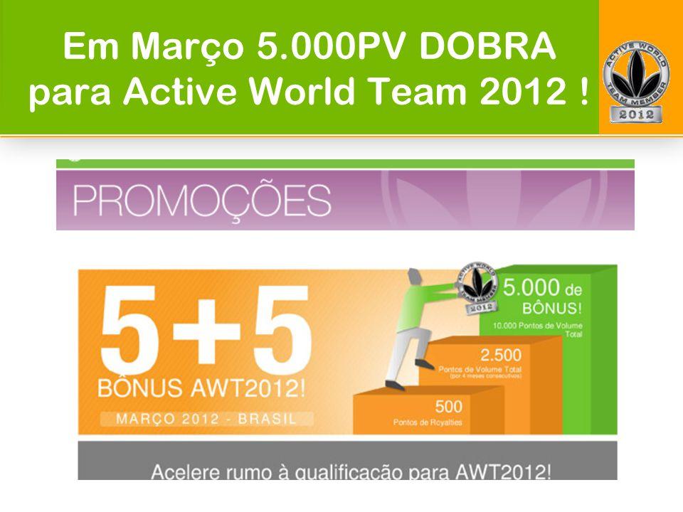 Em Março 5.000PV DOBRA para Active World Team 2012 !