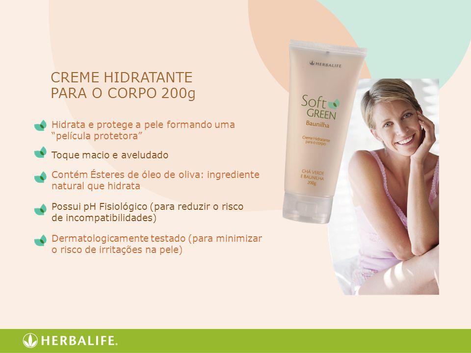 CREME HIDRATANTE PARA O CORPO 200g Hidrata e protege a pele formando uma película protetora Toque macio e aveludado Contém Ésteres de óleo de oliva: i