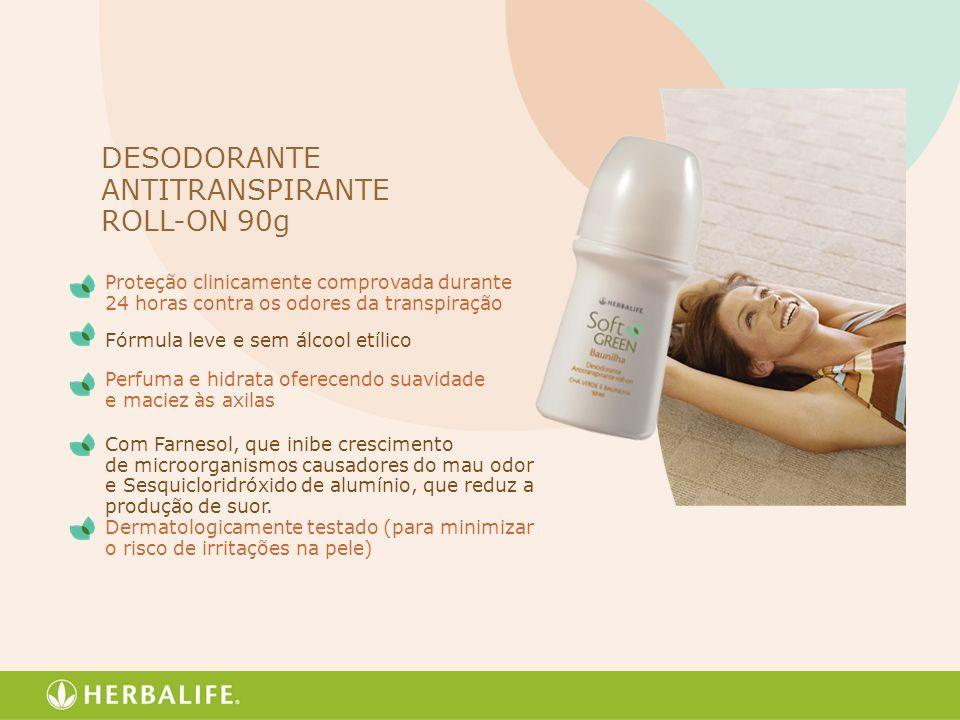 Proteção clinicamente comprovada durante 24 horas contra os odores da transpiração Fórmula leve e sem álcool etílico Perfuma e hidrata oferecendo suav