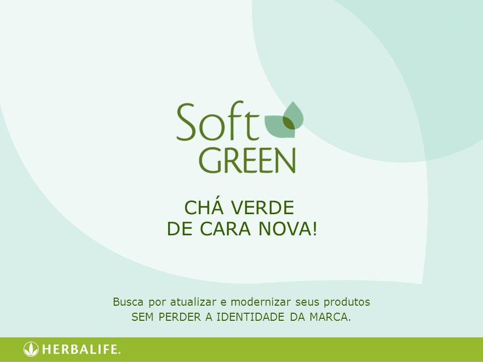 CHÁ VERDE DE CARA NOVA! Busca por atualizar e modernizar seus produtos SEM PERDER A IDENTIDADE DA MARCA.