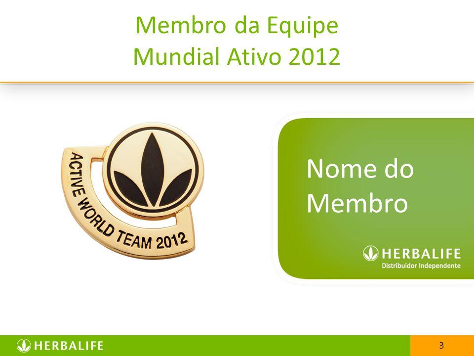 33 Membro da Equipe Mundial Ativo 2012 Nome do Membro