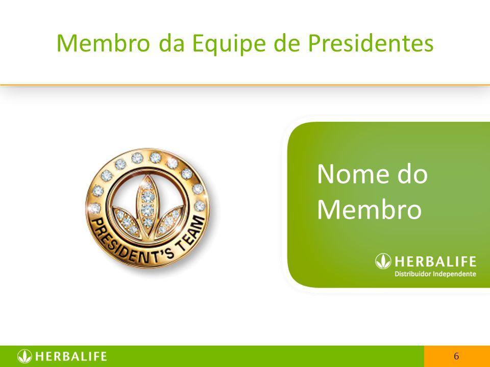6 Membro da Equipe de Presidentes Nome do Membro 6