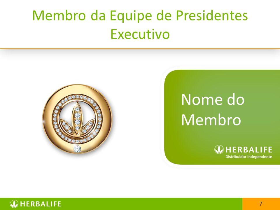 7 Membro da Equipe de Presidentes Executivo 7 Nome do Membro
