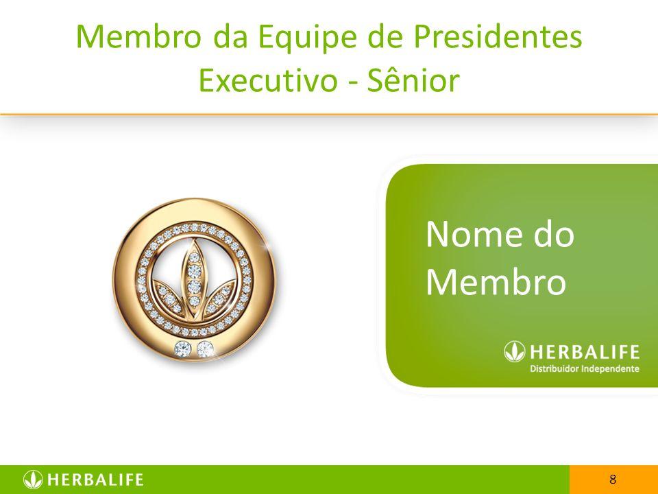 8 Membro da Equipe de Presidentes Executivo - Sênior 8 Nome do Membro