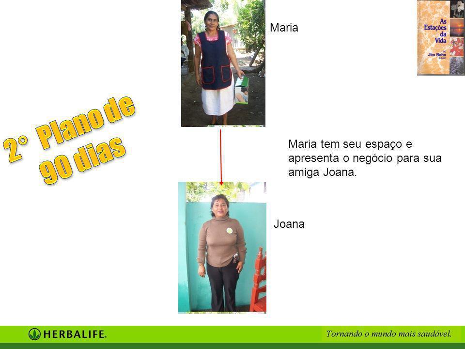 Maria tem seu espaço e apresenta o negócio para sua amiga Joana. Maria Joana