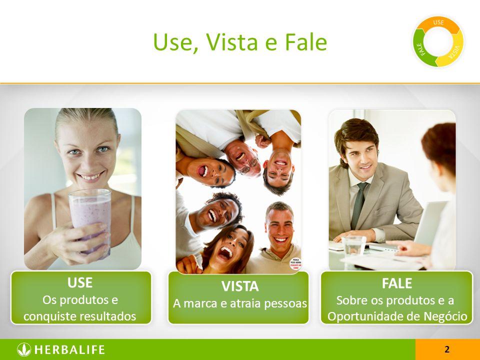 2 Use, Vista e Fale USE Os produtos e conquiste resultados VISTA A marca e atraia pessoas FALE Sobre os produtos e a Oportunidade de Negócio