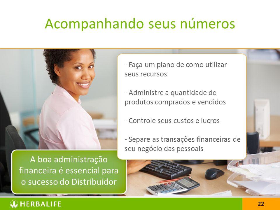 22 A boa administração financeira é essencial para o sucesso do Distribuidor - Faça um plano de como utilizar seus recursos - Administre a quantidade
