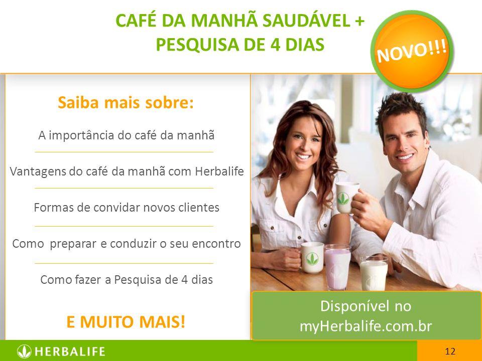 A importância do café da manhã Vantagens do café da manhã com Herbalife Formas de convidar novos clientes Como preparar e conduzir o seu encontro Como