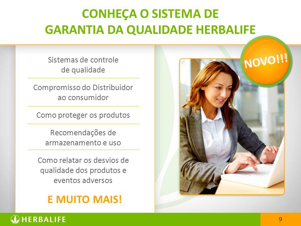 Sistemas de controle de qualidade Compromisso do Distribuidor ao consumidor Como proteger os produtos Recomendações de armazenamento e uso Como relata