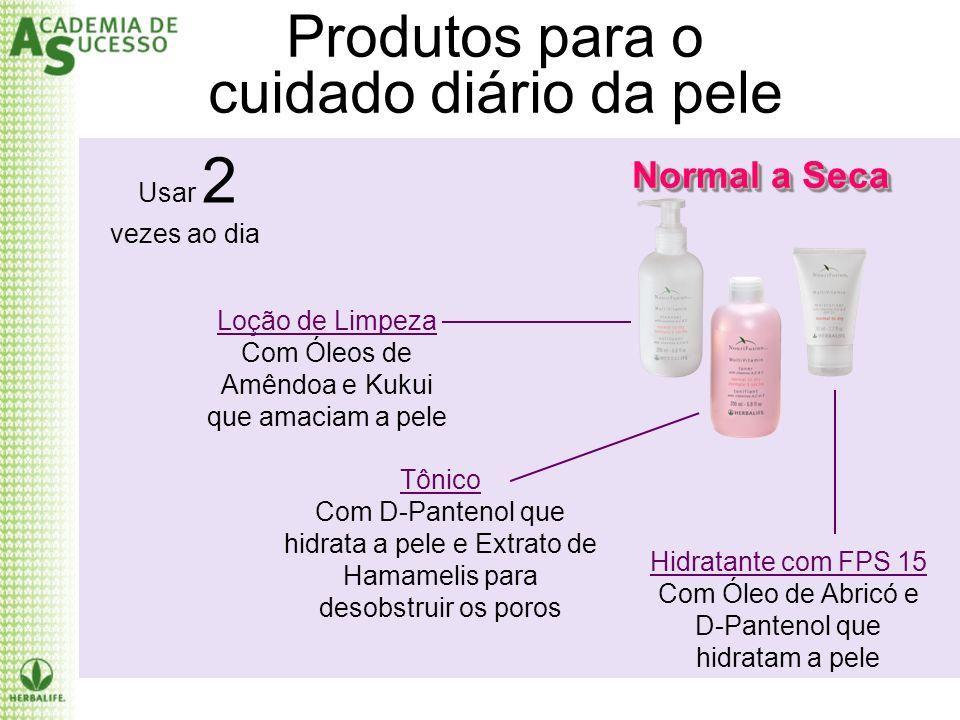 Produtos para o cuidado diário da pele Normal a Seca Usar 2 vezes ao dia Loção de Limpeza Com Óleos de Amêndoa e Kukui que amaciam a pele Tônico Com D