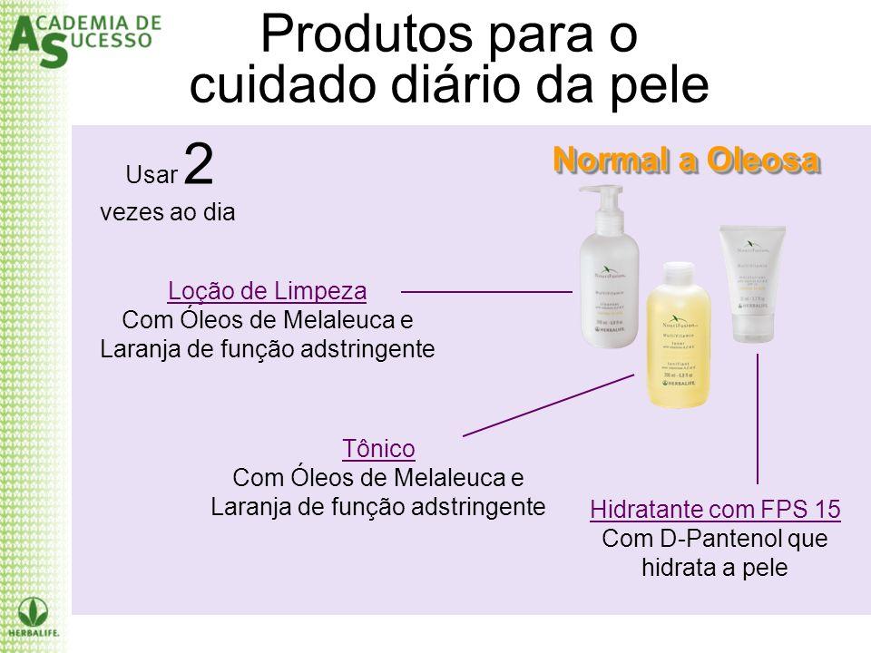 Produtos para o cuidado diário da pele Normal a Oleosa Usar 2 vezes ao dia Loção de Limpeza Com Óleos de Melaleuca e Laranja de função adstringente Tô