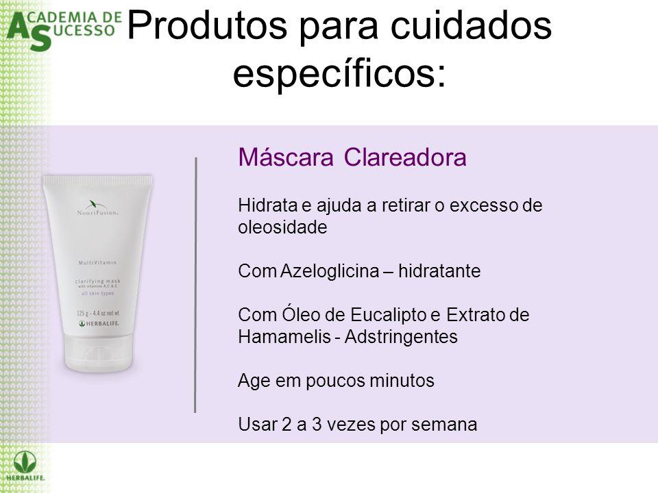Produtos para cuidados específicos: Máscara Clareadora Hidrata e ajuda a retirar o excesso de oleosidade Com Azeloglicina – hidratante Com Óleo de Euc