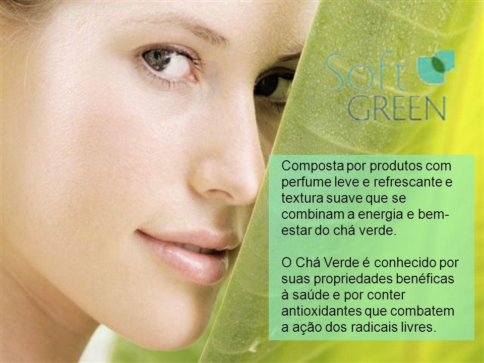 Composta por produtos com perfume leve e refrescante e textura suave que se combinam a energia e bem- estar do chá verde. O Chá Verde é conhecido por