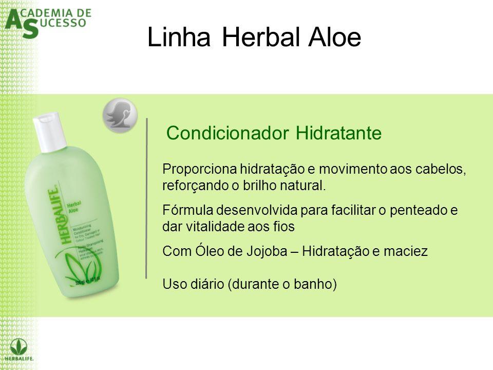Condicionador Hidratante Linha Herbal Aloe Proporciona hidratação e movimento aos cabelos, reforçando o brilho natural. Fórmula desenvolvida para faci