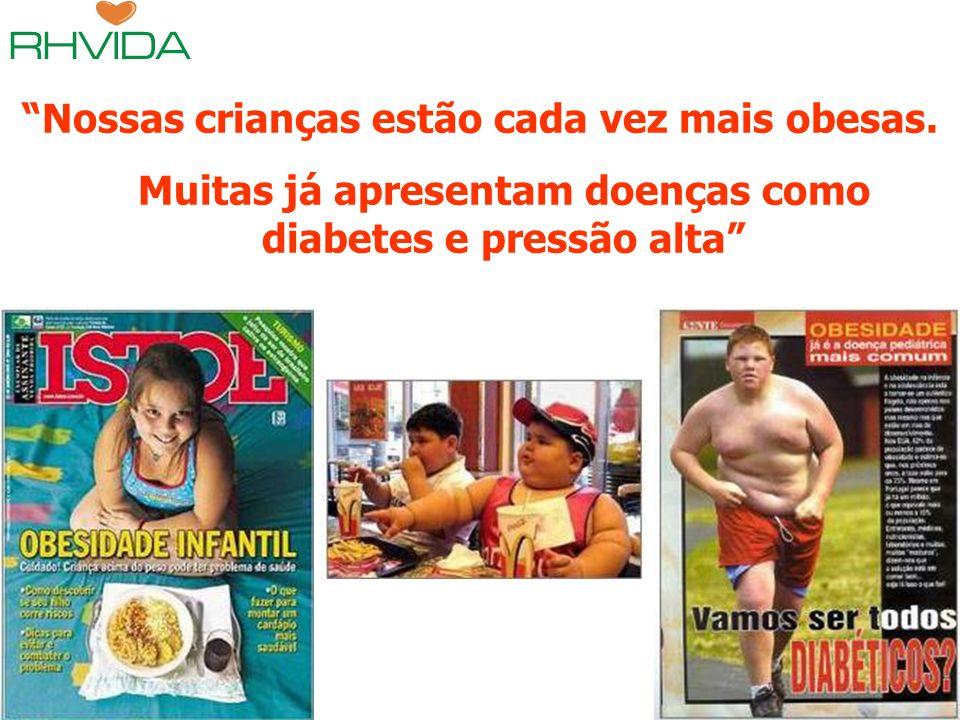 Copyright © RHVIDA S/C Ltda. www.rhvida.com.br Nossas crianças estão cada vez mais obesas. Muitas já apresentam doenças como diabetes e pressão alta