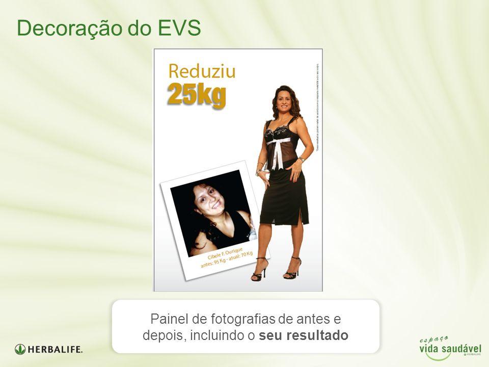 Decoração do EVS Painel de fotografias de antes e depois, incluindo o seu resultado