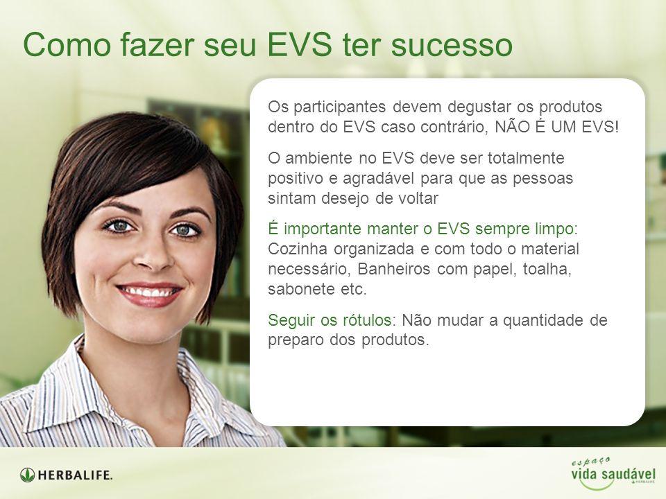 Os participantes devem degustar os produtos dentro do EVS caso contrário, NÃO É UM EVS! O ambiente no EVS deve ser totalmente positivo e agradável par