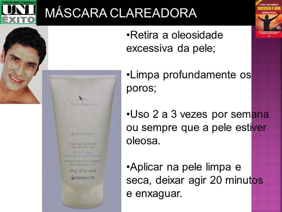 Retira a oleosidade excessiva da pele; Limpa profundamente os poros; Uso 2 a 3 vezes por semana ou sempre que a pele estiver oleosa. Aplicar na pele l