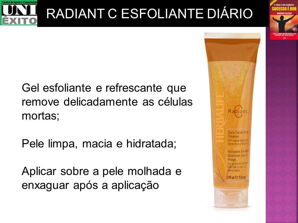 Gel esfoliante e refrescante que remove delicadamente as células mortas; Pele limpa, macia e hidratada; Aplicar sobre a pele molhada e enxaguar após a