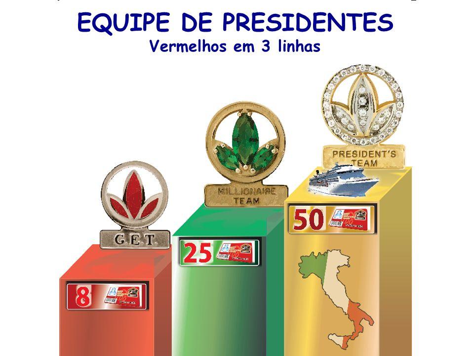 EQUIPE DE PRESIDENTES Vermelhos em 3 linhas