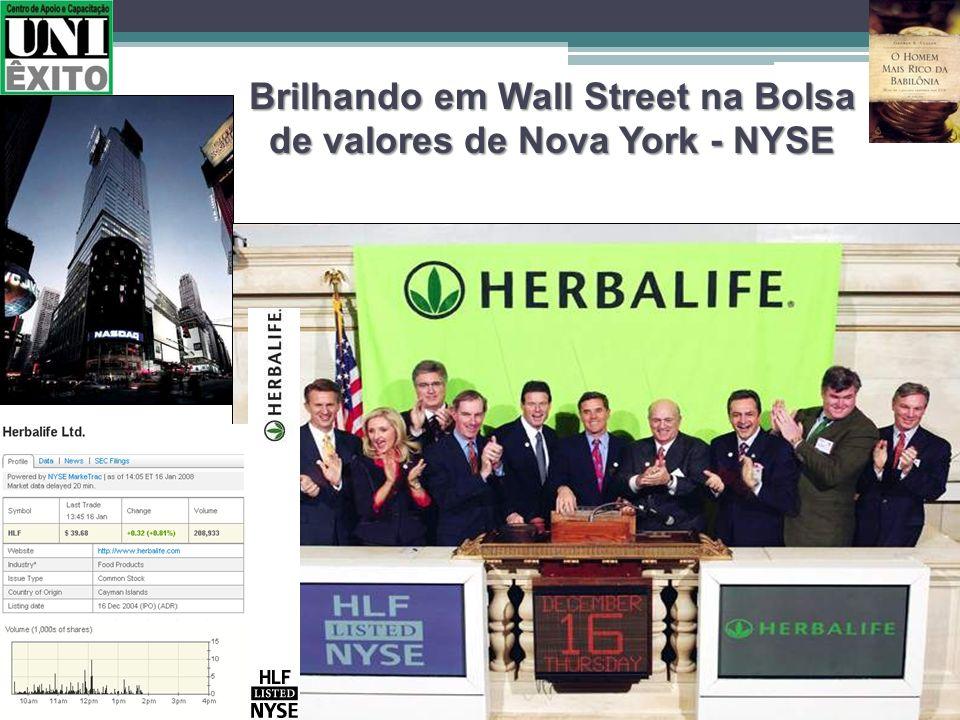 Brilhando em Wall Street na Bolsa de valores de Nova York - NYSE