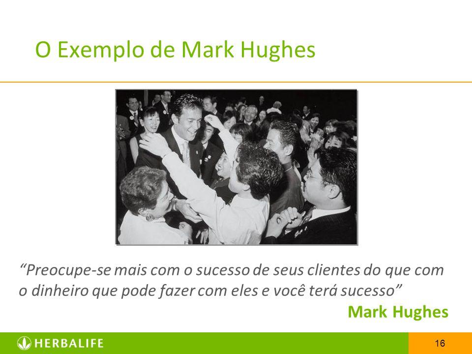 16 O Exemplo de Mark Hughes Preocupe-se mais com o sucesso de seus clientes do que com o dinheiro que pode fazer com eles e você terá sucesso Mark Hug
