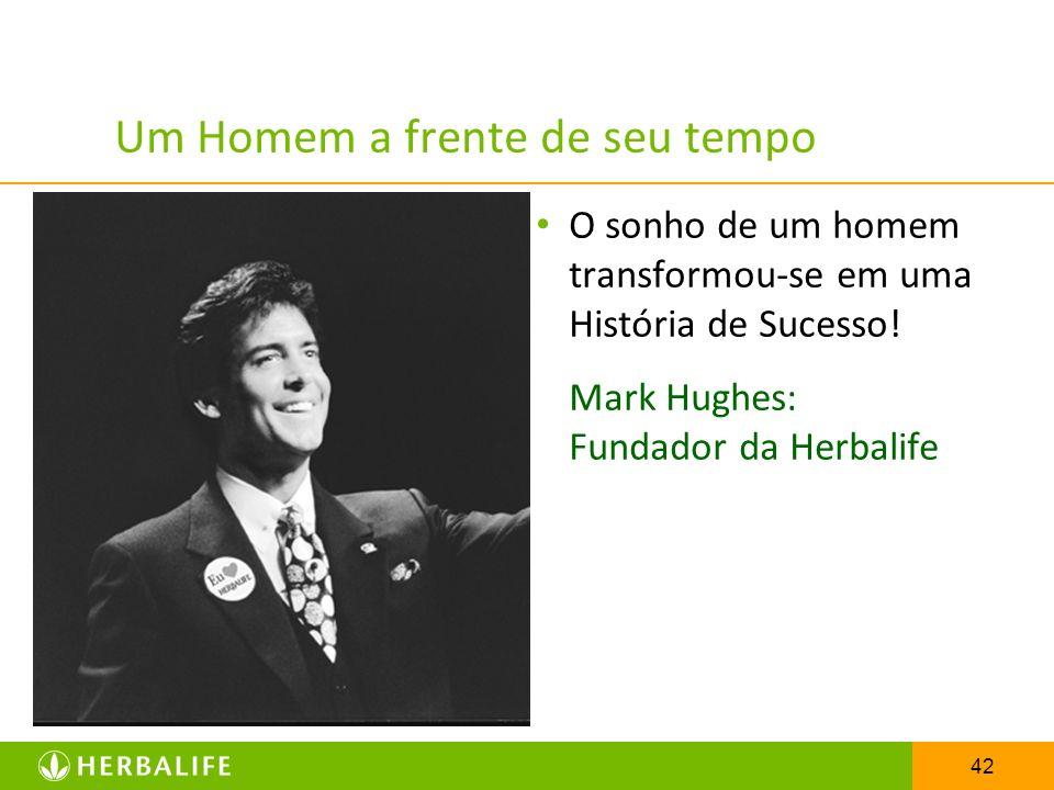 42 Um Homem a frente de seu tempo O sonho de um homem transformou-se em uma História de Sucesso! Mark Hughes: Fundador da Herbalife