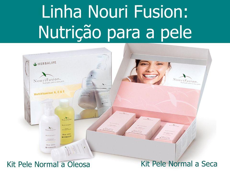 Kit Pele Normal a Seca Kit Pele Normal a Oleosa Linha Nouri Fusion: Nutrição para a pele