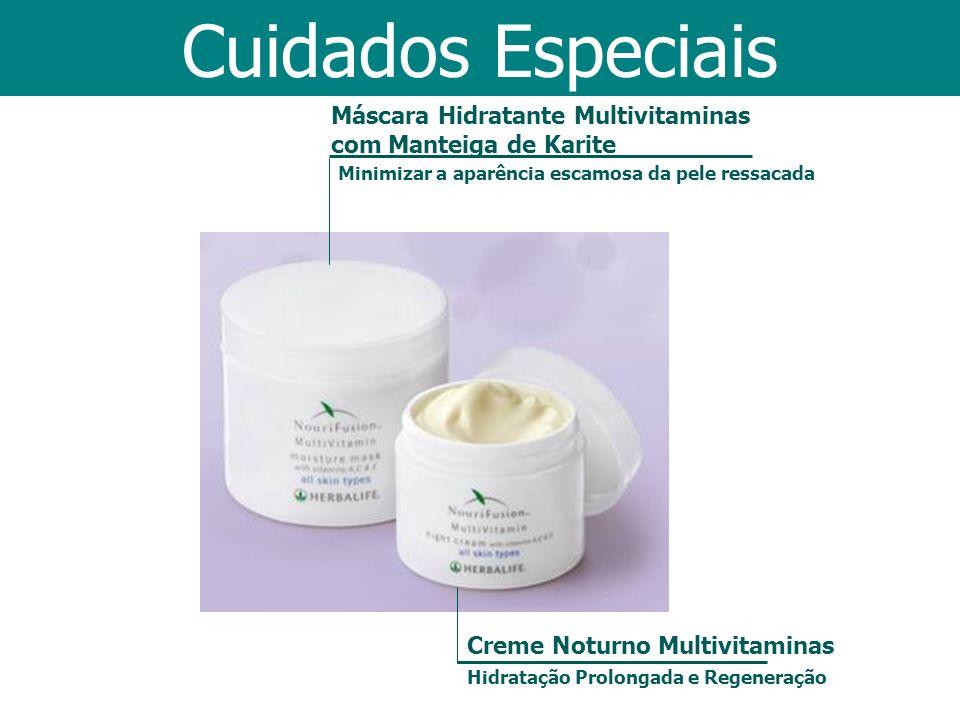 Máscara Hidratante Multivitaminas com Manteiga de Karite Creme Noturno Multivitaminas Hidratação Prolongada e Regeneração Cuidados Especiais Minimizar