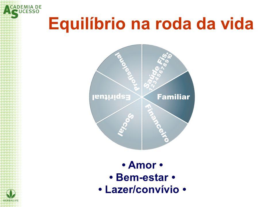 Equilíbrio na roda da vida Amor Bem-estar Lazer/convívio