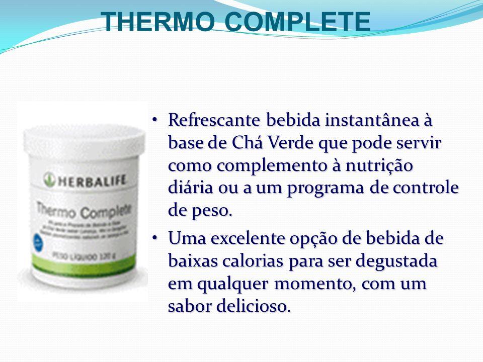 Refrescante bebida instantânea à base de Chá Verde que pode servir como complemento à nutrição diária ou a um programa de controle de peso.Refrescante