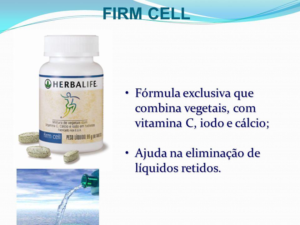 Fórmula exclusiva que combina vegetais, com vitamina C, iodo e cálcio;Fórmula exclusiva que combina vegetais, com vitamina C, iodo e cálcio; Ajuda na