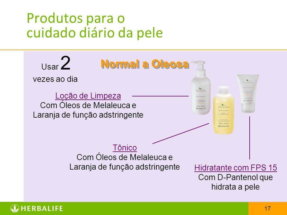 17 Produtos para o cuidado diário da pele Normal a Oleosa Usar 2 vezes ao dia Loção de Limpeza Com Óleos de Melaleuca e Laranja de função adstringente