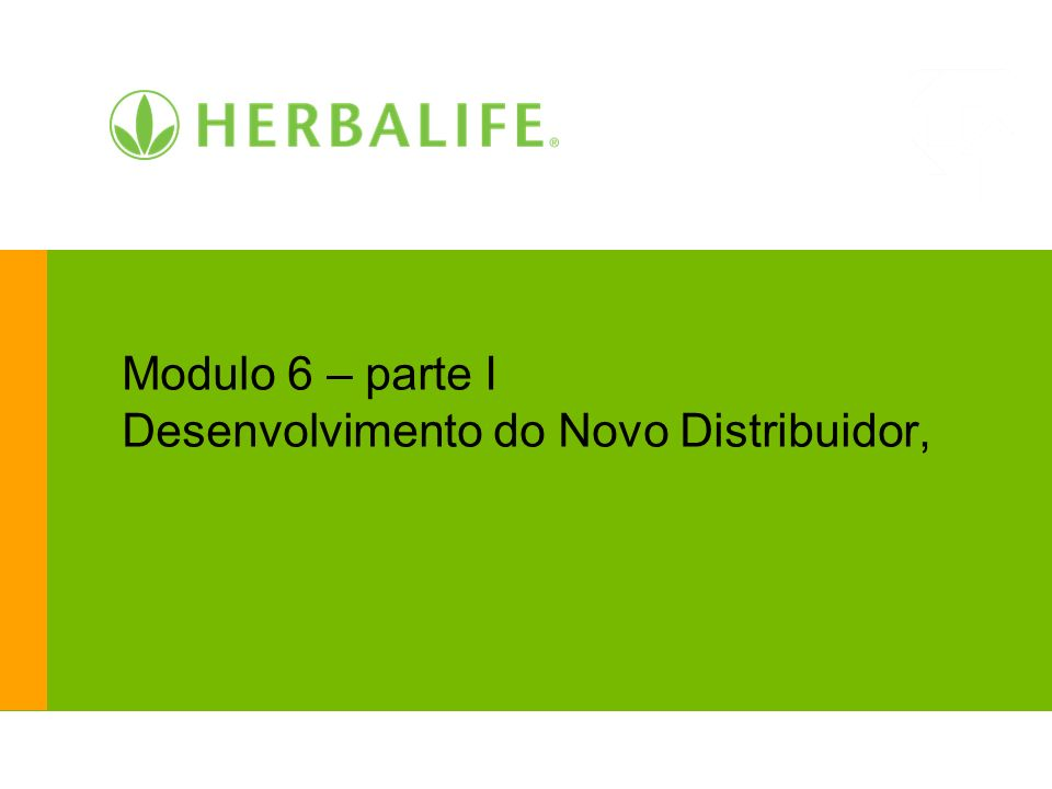 Modulo 6 – parte I Desenvolvimento do Novo Distribuidor,