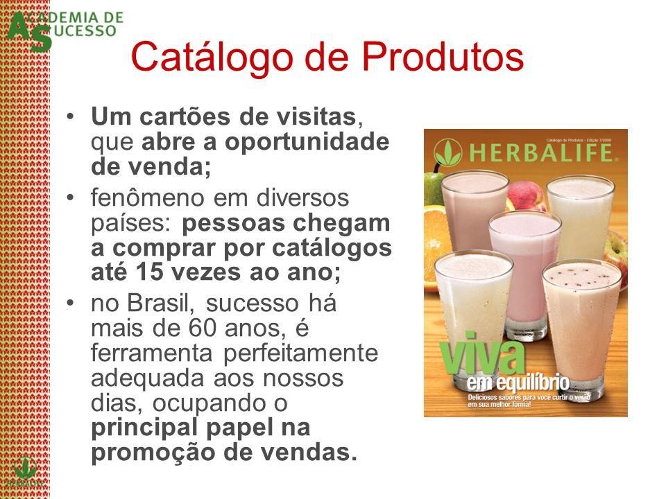 Catálogo de Produtos Um cartões de visitas, que abre a oportunidade de venda; fenômeno em diversos países: pessoas chegam a comprar por catálogos até