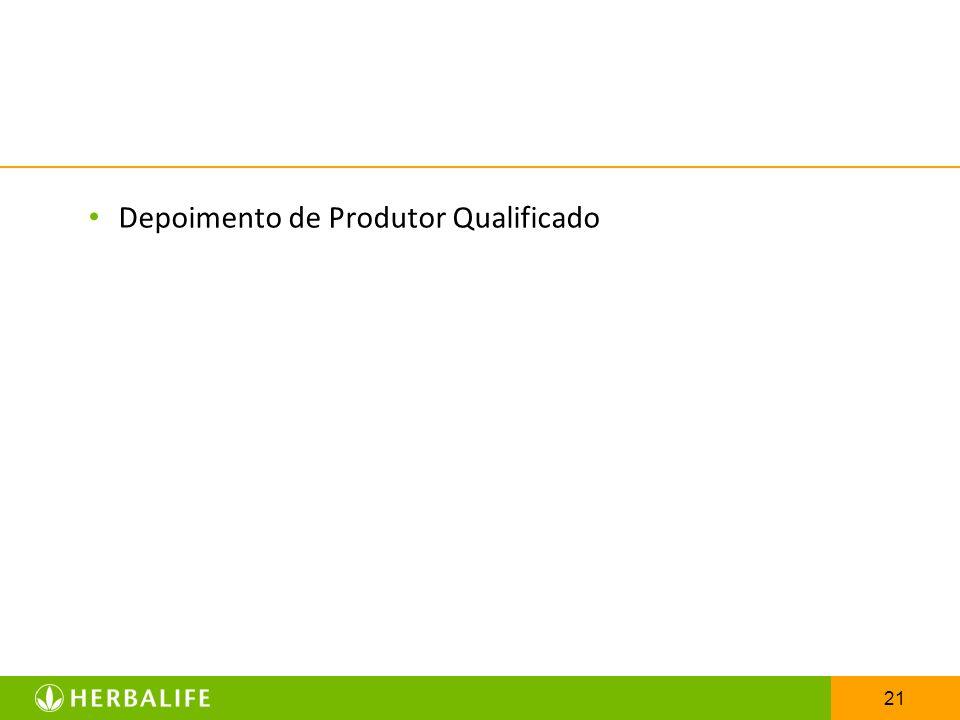 21 Depoimento de Produtor Qualificado