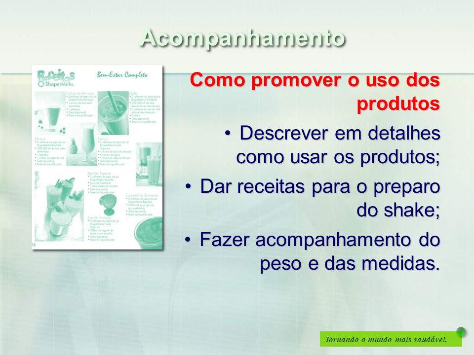 Tornando o mundo mais saudável. Como promover o uso dos produtos Descrever em detalhes como usar os produtos;Descrever em detalhes como usar os produt
