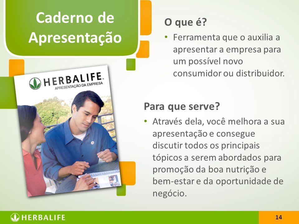 14 Caderno de Apresentação 14 O que é? Ferramenta que o auxilia a apresentar a empresa para um possível novo consumidor ou distribuidor. Para que serv