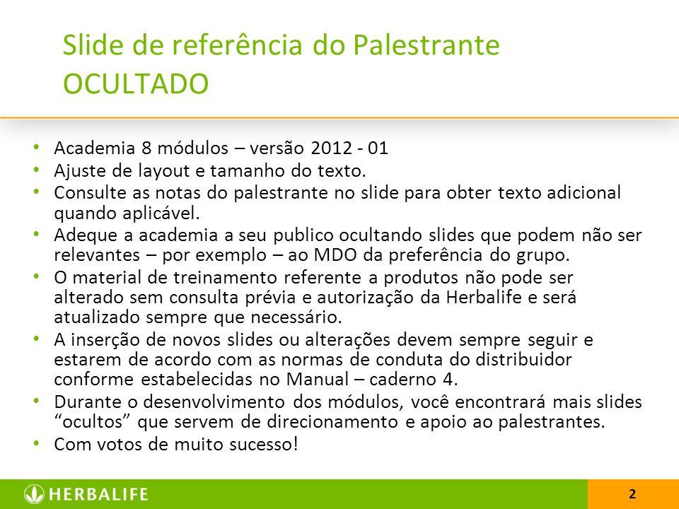 3 Slide de referência do Palestrante OCULTADO Academia de Sucesso em 8 módulos.
