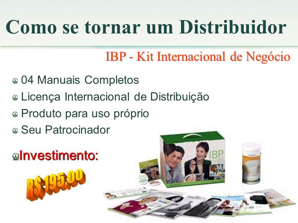 Como se tornar um Distribuidor IBP - Kit Internacional de Negócio 04 Manuais Completos Licença Internacional de Distribuição Produto para uso próprio