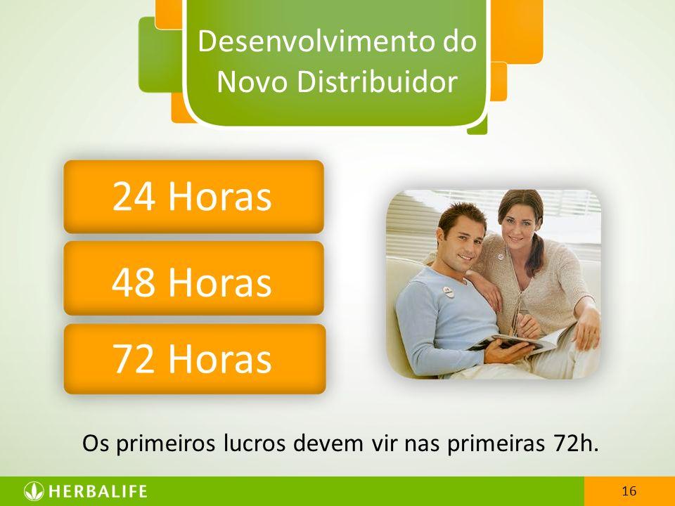 16 Desenvolvimento do Novo Distribuidor 24 Horas 48 Horas 72 Horas 16 Os primeiros lucros devem vir nas primeiras 72h.