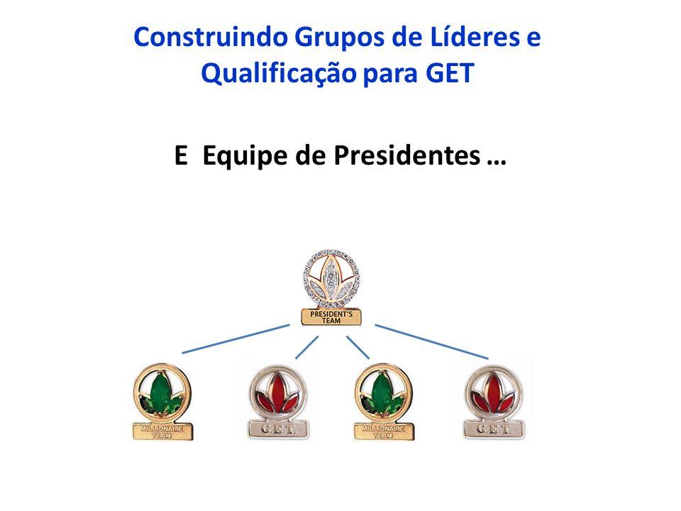 Construindo Grupos de Líderes e Qualificação para GET E Equipe de Presidentes …